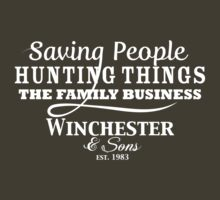Winchester & Sons - The Family Business (Reversed Out) by Tegan  Crocker