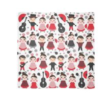 Flamenco boys and girls with guitar, castanets and fans Scarf