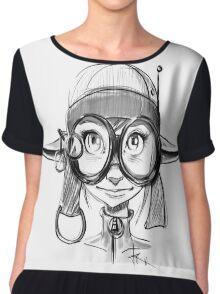 Steampunk Girl Elf Variant Chiffon Top