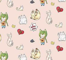 I LOVE CATS sticker pattern by Zwiebelprinzn