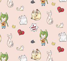 I LOVE CATS sticker pattern by Zwiebelprinzn