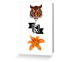 Tiger & Lily, Peter Pan themed- Simple Greeting Card