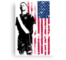 Dempsey with USA Flag Canvas Print