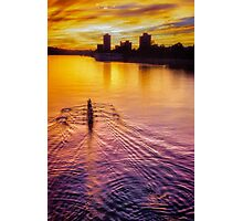 Rowing for Gold Photographic Print