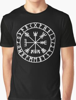 Vegvísir PATH GUIDE and Elder Futhark RUNES Graphic T-Shirt