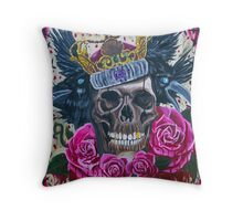 Suicide King Throw Pillow