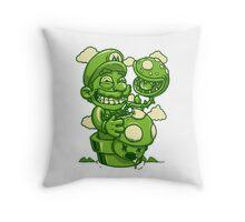 Mario Shrooms Throw Pillow