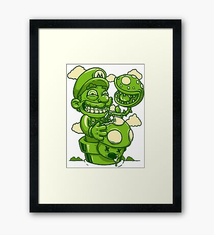 Mario Shrooms Framed Print