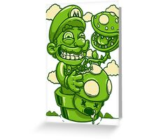 Mario Shrooms Greeting Card
