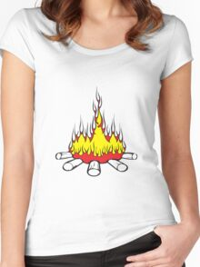 Feuer lager lagerfeuer  Women's Fitted Scoop T-Shirt