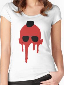 Taxi Driver, Travis Bickle Silhouette Women's Fitted Scoop T-Shirt