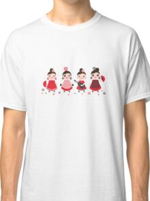 Flamenco girls with fans and guitars Classic T-Shirt