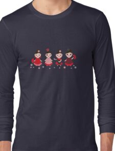 Flamenco girls with fans and guitars Long Sleeve T-Shirt