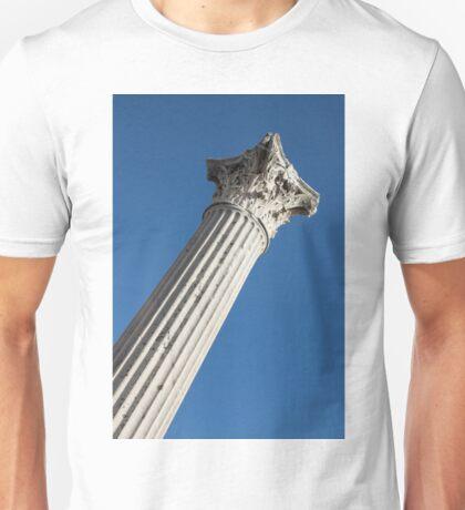 Classical Corinthian Column - Ancient Pompeii Graceful Beauty Right Unisex T-Shirt