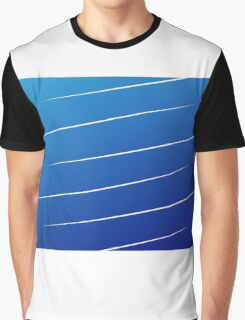 blue gradient with white lines Graphic T-Shirt