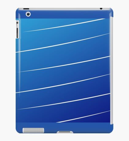 blue gradient with white lines iPad Case/Skin