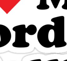 I Heart Love My Border Collie Sticker