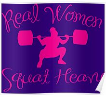 Real Women Squat Heavy Poster