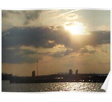 Sunset at Red Hook Poster