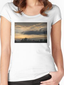 Ominous Looking Clouds at Sunset in Toronto, ON, Canada Women's Fitted Scoop T-Shirt