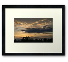 Ominous Looking Clouds at Sunset in Toronto, ON, Canada Framed Print