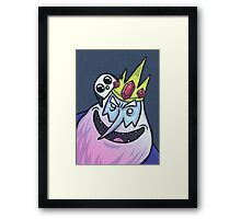 Ice King & Gunter the Penguin (Adventure Time) Framed Print