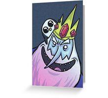 Ice King & Gunter the Penguin (Adventure Time) Greeting Card