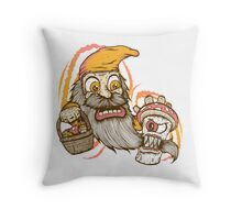 Gnome being attacked by killer shroom! Throw Pillow
