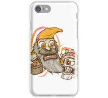 Gnome being attacked by killer shroom! iPhone Case/Skin