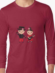 Flamenco boy and girl Long Sleeve T-Shirt