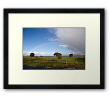 Rainbows.  Framed Print