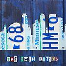 Minneapolis Skyline License Plate Art by designturnpike