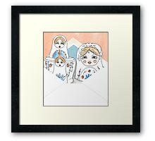 Nesting Dolls Framed Print
