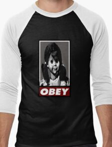 Talky Tina - TZ OBEY Men's Baseball ¾ T-Shirt