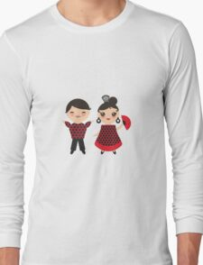 Flamenco boy and girl 2 Long Sleeve T-Shirt