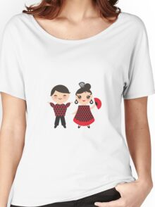 Flamenco boy and girl 2 Women's Relaxed Fit T-Shirt