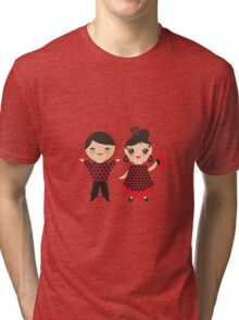 Flamenco boy and girl 2 Tri-blend T-Shirt