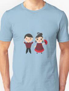 Flamenco boy and girl 2 Unisex T-Shirt