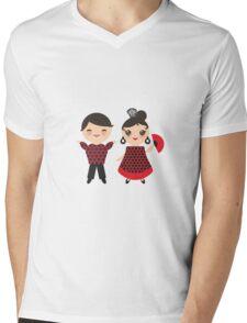 Flamenco boy and girl 2 Mens V-Neck T-Shirt
