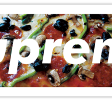 supreme PIZZA Sticker