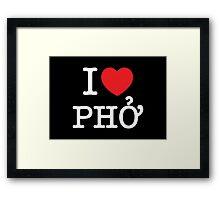 I Heart (Love) Phở Framed Print