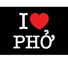 I Heart (Love) Phở Photographic Print