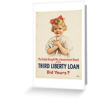 Vintage poster - Third Liberty Loan Greeting Card