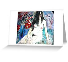 Nude with Aliens Greeting Card