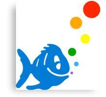 rainbow bubblefish Canvas Print