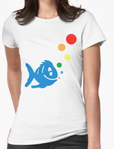 rainbow bubblefish Womens Fitted T-Shirt