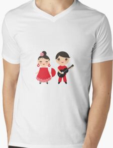 Flamenco boy and girl 3 Mens V-Neck T-Shirt