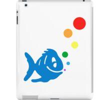 rainbow bubblefish iPad Case/Skin
