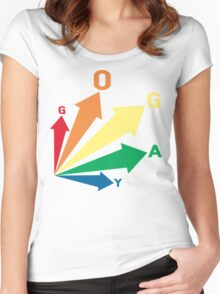 all signs point to... go gay! Women's Fitted Scoop T-Shirt