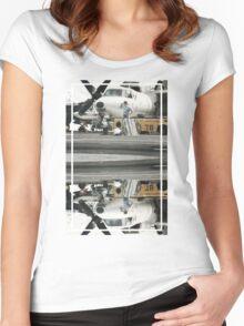 CRA Flight Deck 1  Women's Fitted Scoop T-Shirt